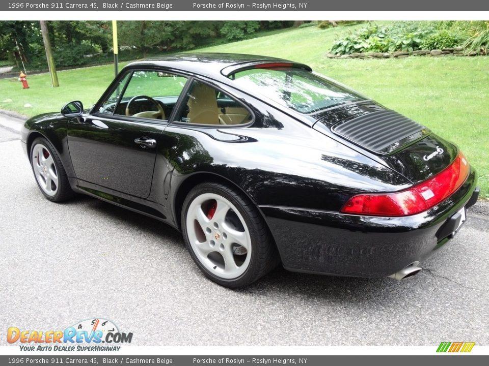 1996 Porsche 911 Carrera 4S Black / Cashmere Beige Photo #4