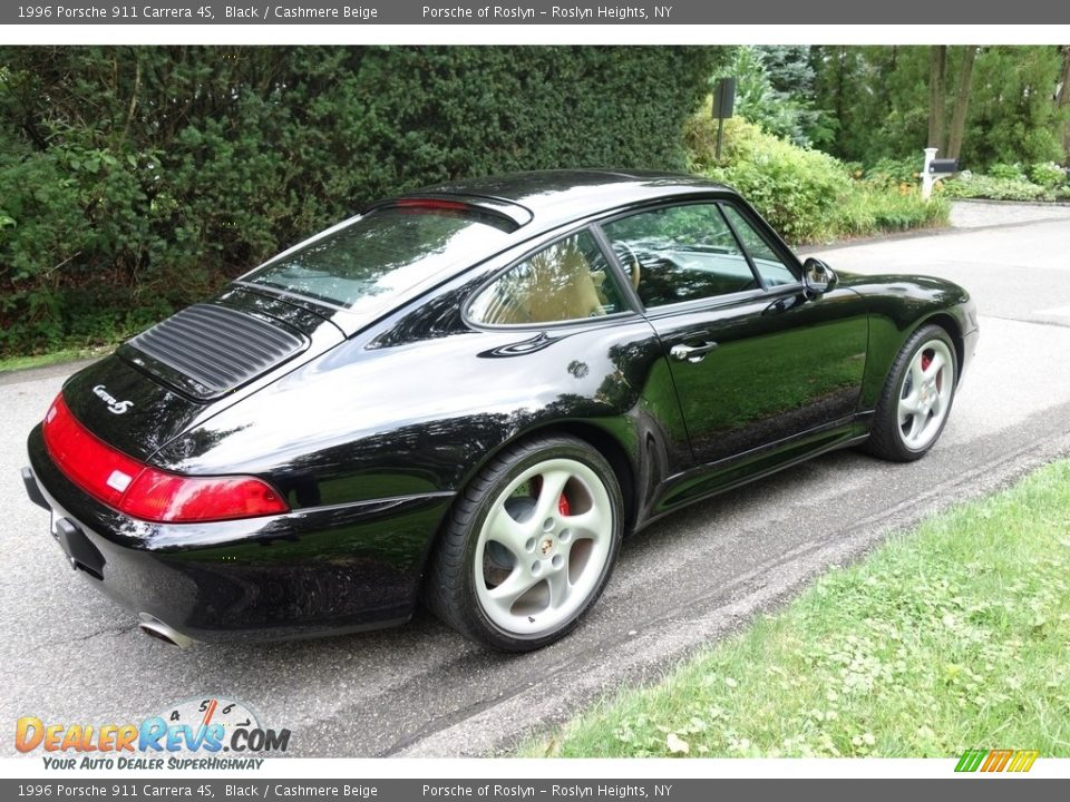 1996 Porsche 911 Carrera 4S Black / Cashmere Beige Photo #6