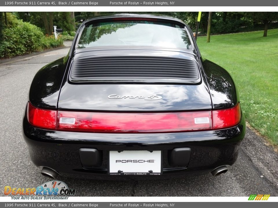 1996 Porsche 911 Carrera 4S Black / Cashmere Beige Photo #10