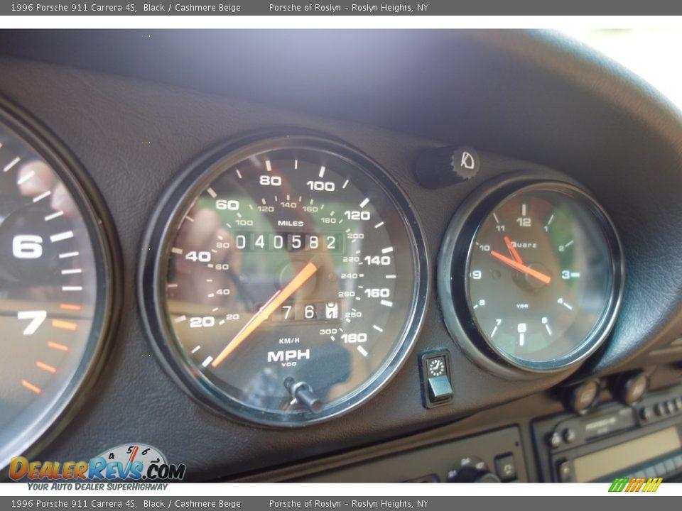 1996 Porsche 911 Carrera 4S Gauges Photo #20
