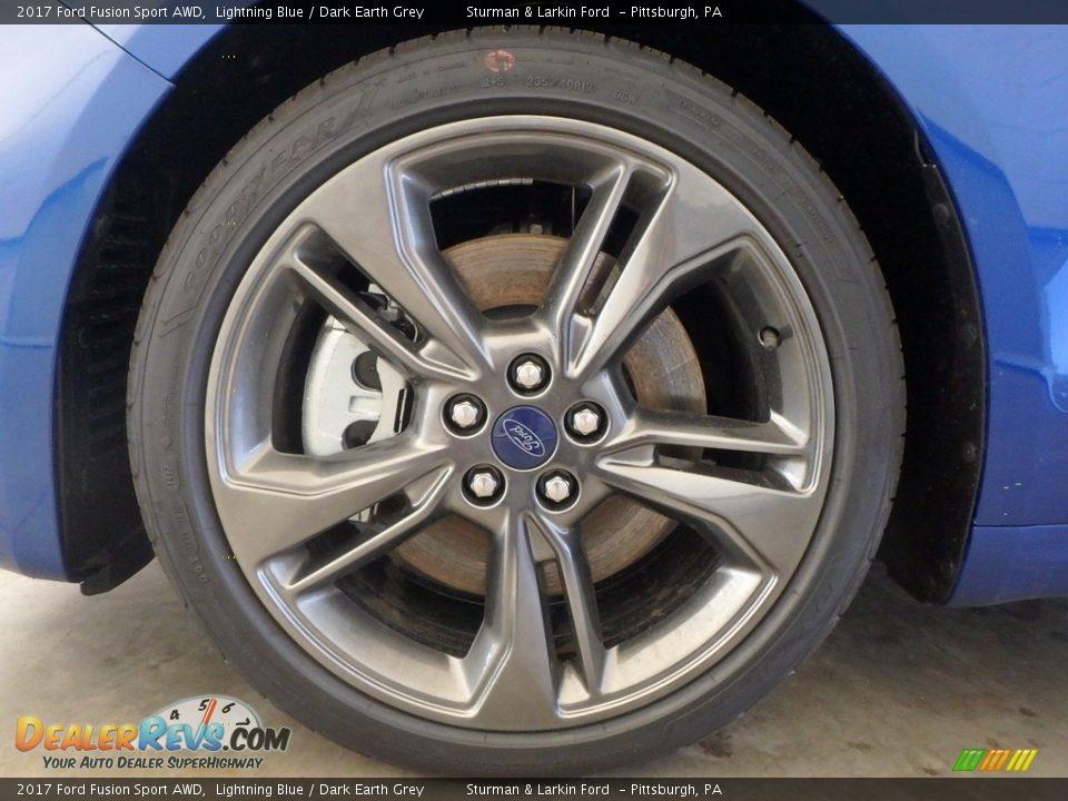 2017 Ford Fusion Sport AWD Lightning Blue / Dark Earth Grey Photo #5