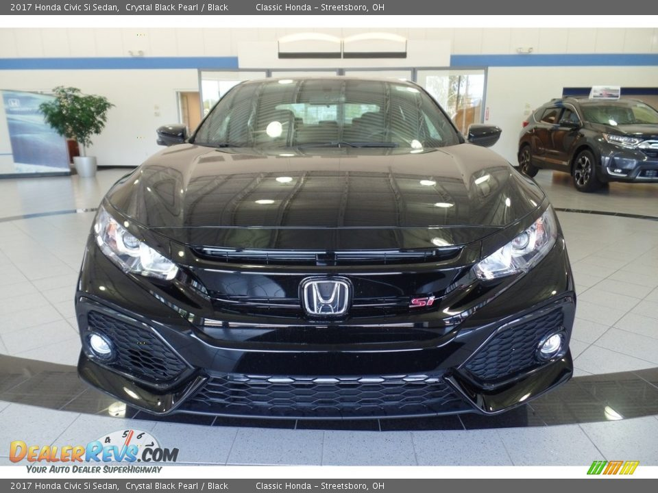 2017 Honda Civic Si Sedan Crystal Black Pearl / Black Photo #2