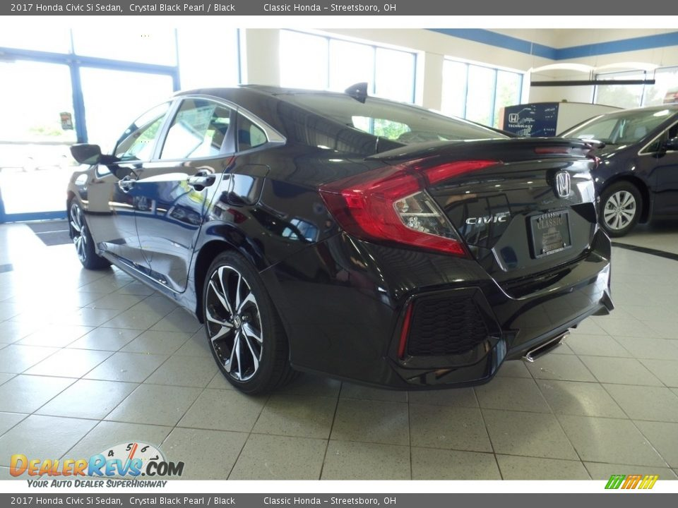 2017 Honda Civic Si Sedan Crystal Black Pearl / Black Photo #4