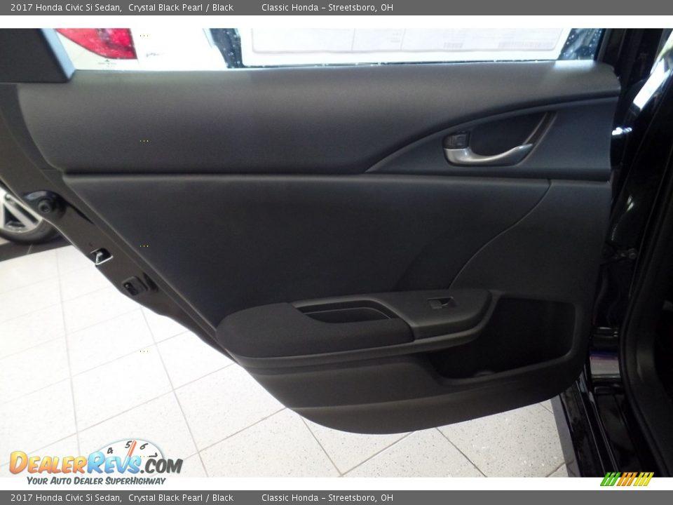 2017 Honda Civic Si Sedan Crystal Black Pearl / Black Photo #13