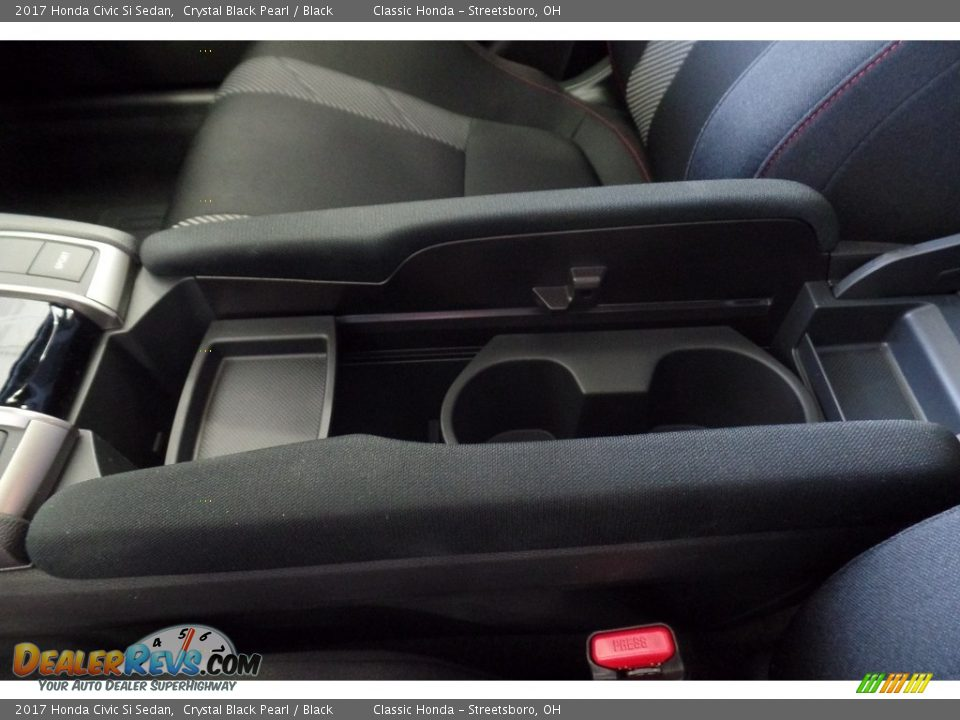 2017 Honda Civic Si Sedan Crystal Black Pearl / Black Photo #26
