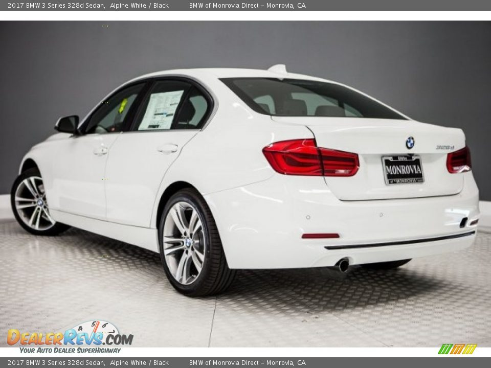 2017 BMW 3 Series 328d Sedan Alpine White / Black Photo #3