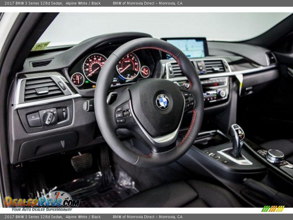 2017 BMW 3 Series 328d Sedan Alpine White / Black Photo #5