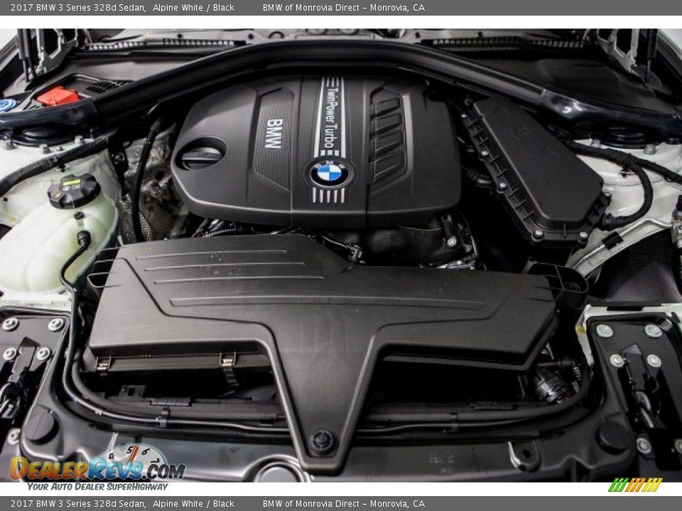 2017 BMW 3 Series 328d Sedan Alpine White / Black Photo #8