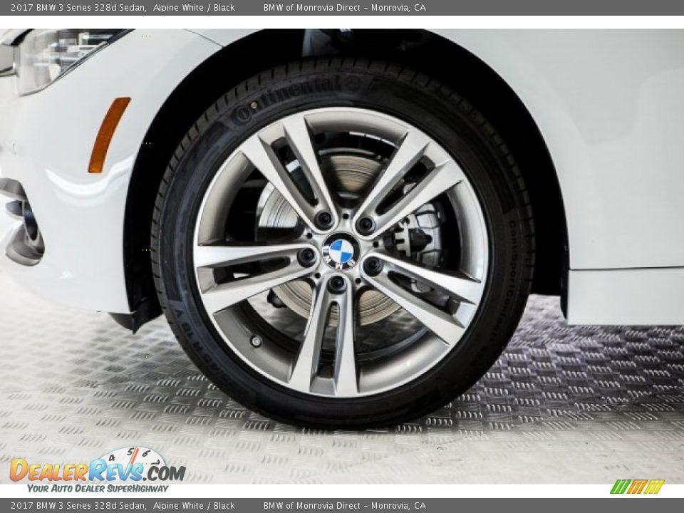 2017 BMW 3 Series 328d Sedan Alpine White / Black Photo #9