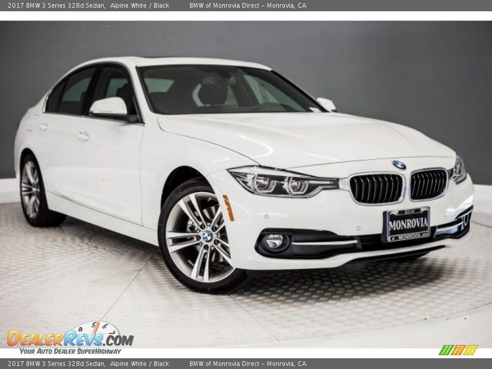 2017 BMW 3 Series 328d Sedan Alpine White / Black Photo #12
