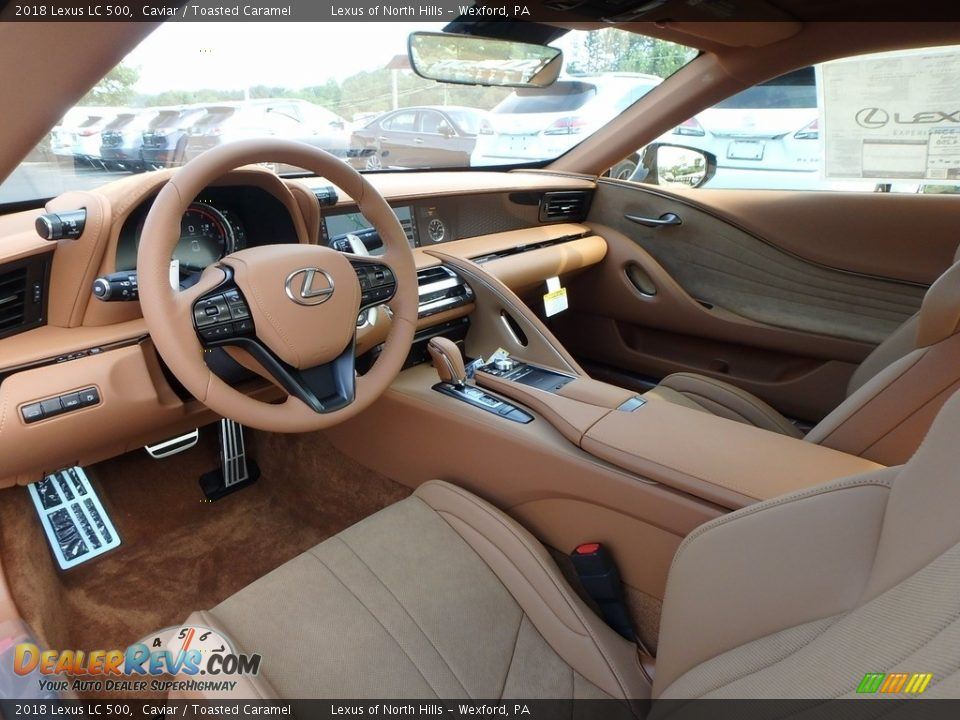 Toasted Caramel Interior - 2018 Lexus LC 500 Photo #9