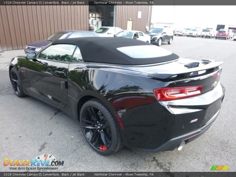 2018 Chevrolet Camaro SS Convertible Black / Jet Black Photo #3