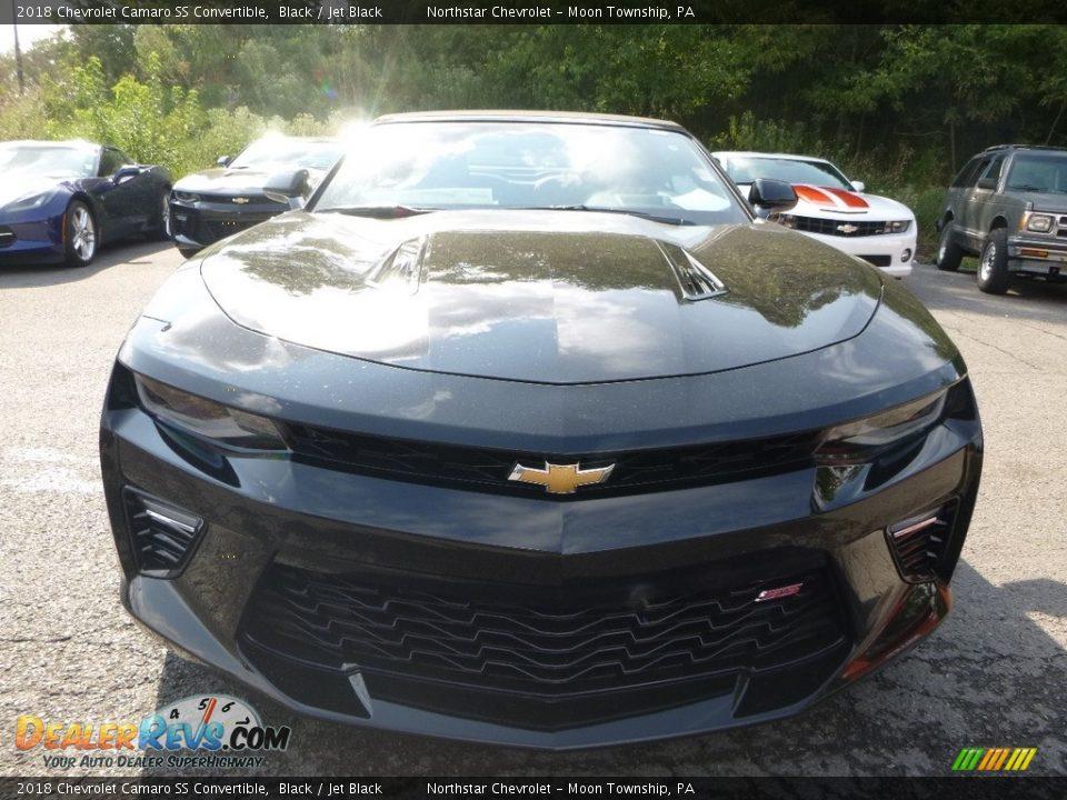 2018 Chevrolet Camaro SS Convertible Black / Jet Black Photo #8