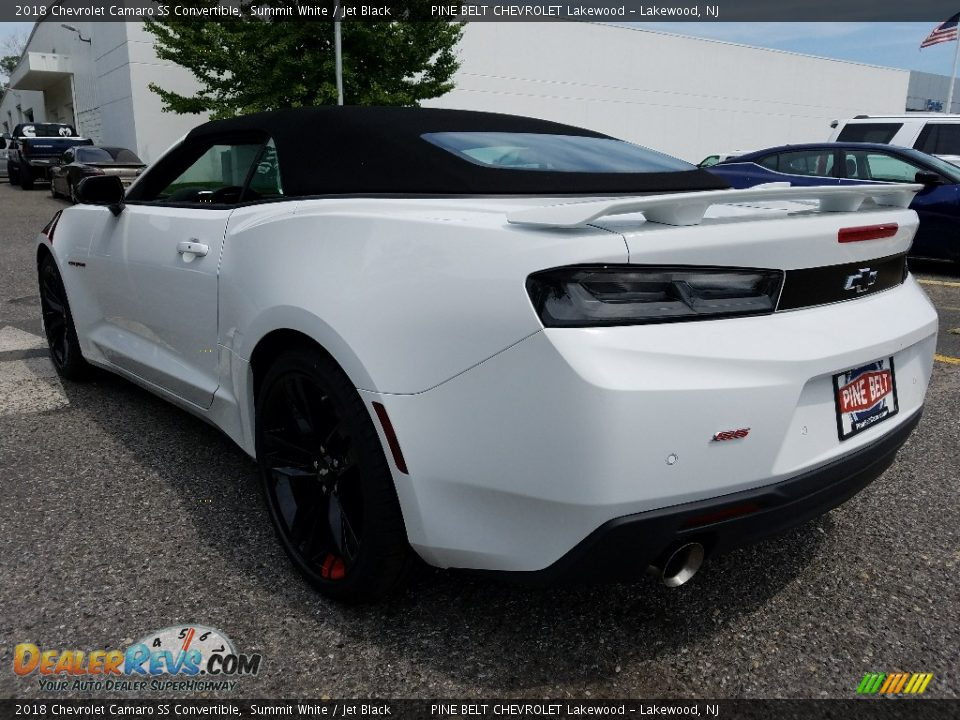 2018 Chevrolet Camaro SS Convertible Summit White / Jet Black Photo #4