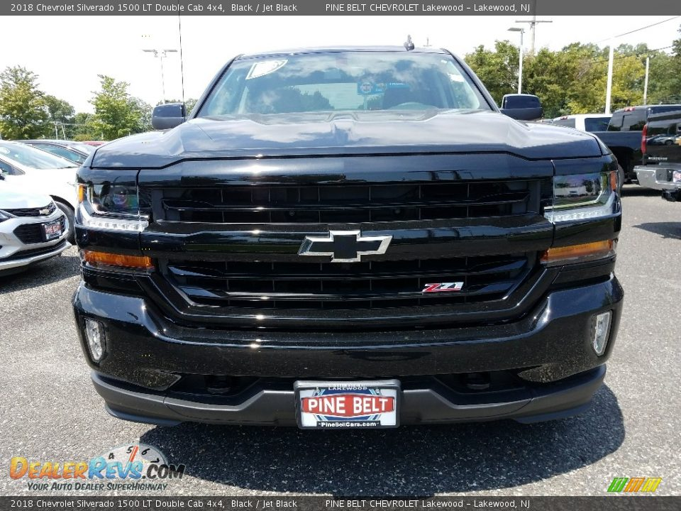 2018 Chevrolet Silverado 1500 LT Double Cab 4x4 Black / Jet Black Photo #2