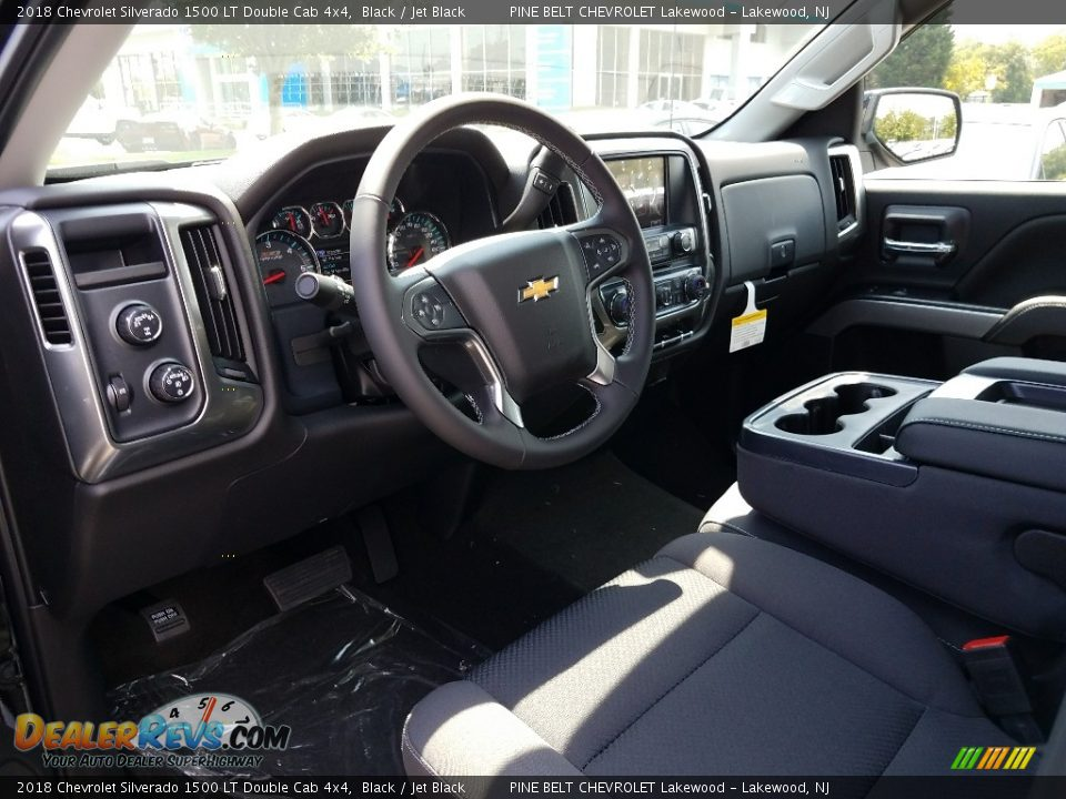 2018 Chevrolet Silverado 1500 LT Double Cab 4x4 Black / Jet Black Photo #7