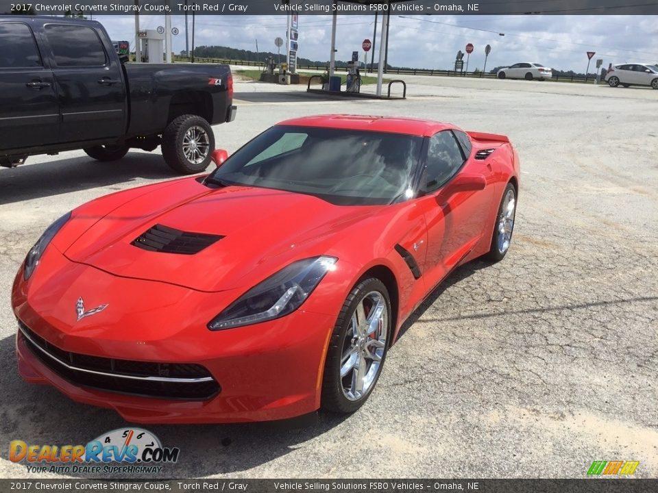 2017 Chevrolet Corvette Stingray Coupe Torch Red / Gray Photo #3
