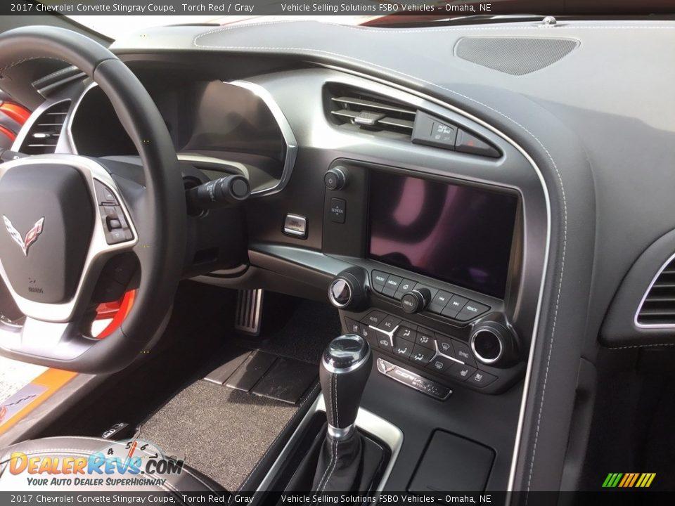 2017 Chevrolet Corvette Stingray Coupe Torch Red / Gray Photo #9