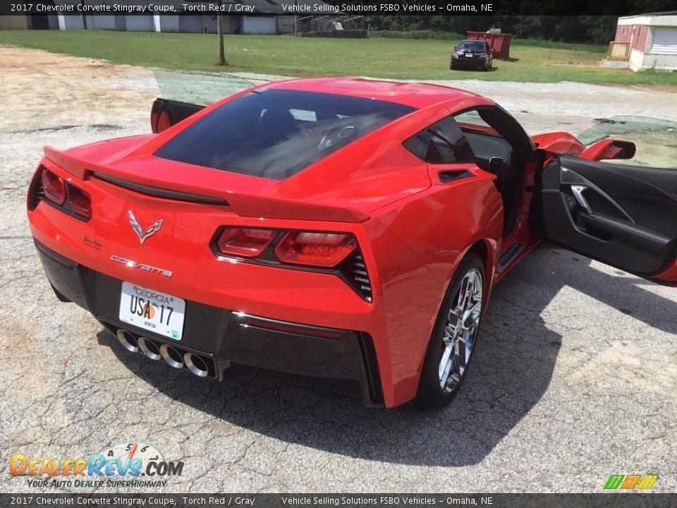 2017 Chevrolet Corvette Stingray Coupe Torch Red / Gray Photo #15