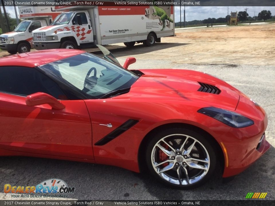 2017 Chevrolet Corvette Stingray Coupe Torch Red / Gray Photo #16