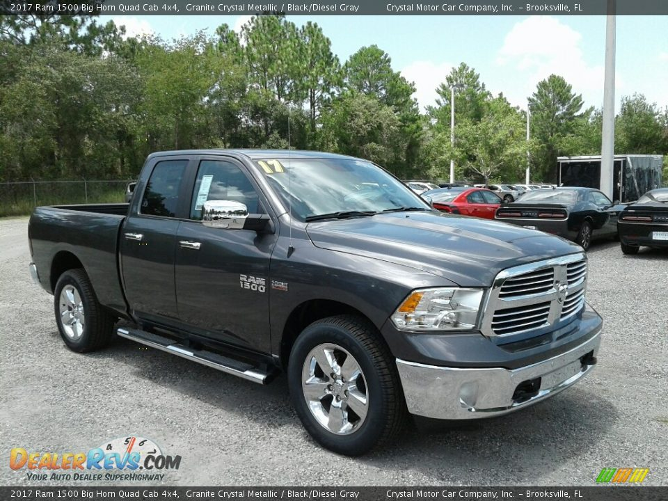 2017 Ram 1500 Big Horn Quad Cab 4x4 Granite Crystal Metallic / Black/Diesel Gray Photo #7