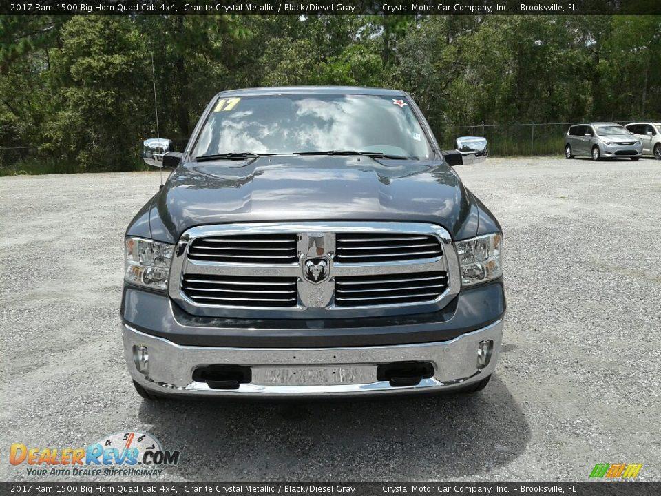 2017 Ram 1500 Big Horn Quad Cab 4x4 Granite Crystal Metallic / Black/Diesel Gray Photo #8