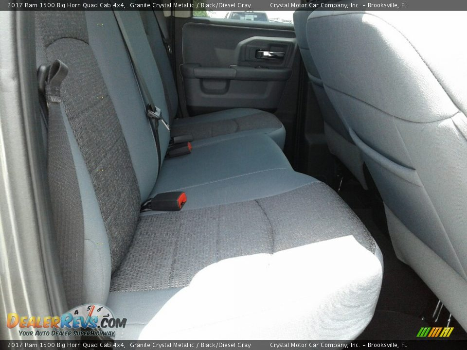 2017 Ram 1500 Big Horn Quad Cab 4x4 Granite Crystal Metallic / Black/Diesel Gray Photo #11