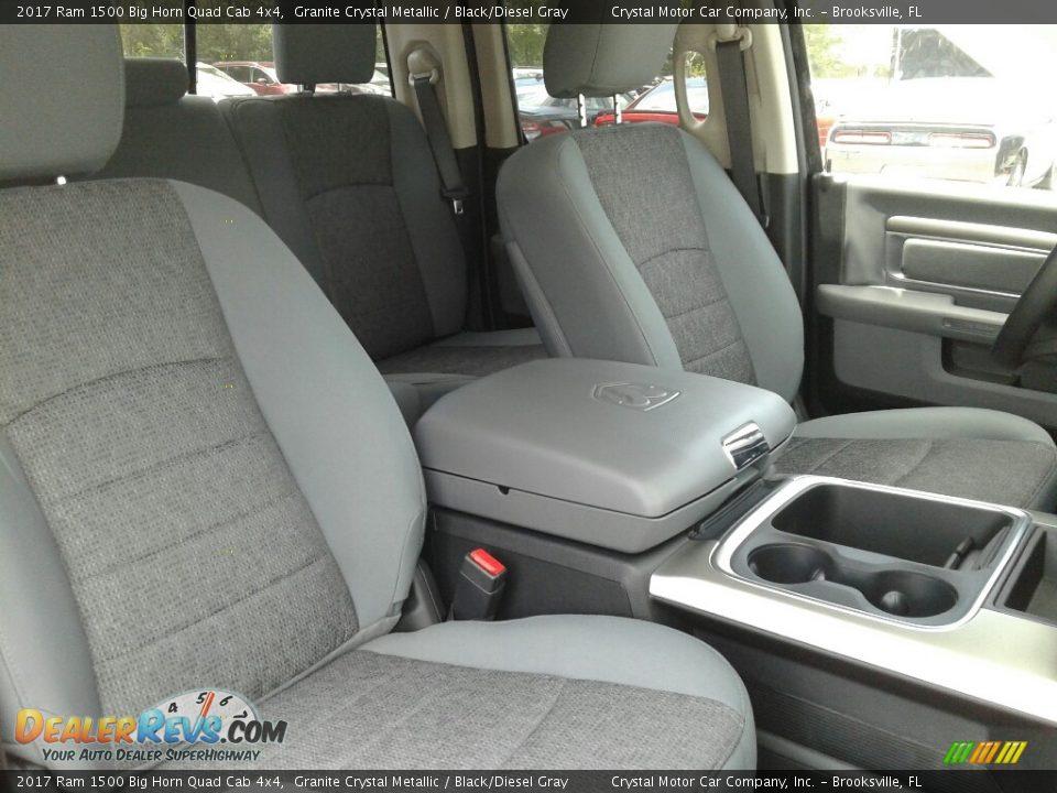 2017 Ram 1500 Big Horn Quad Cab 4x4 Granite Crystal Metallic / Black/Diesel Gray Photo #12