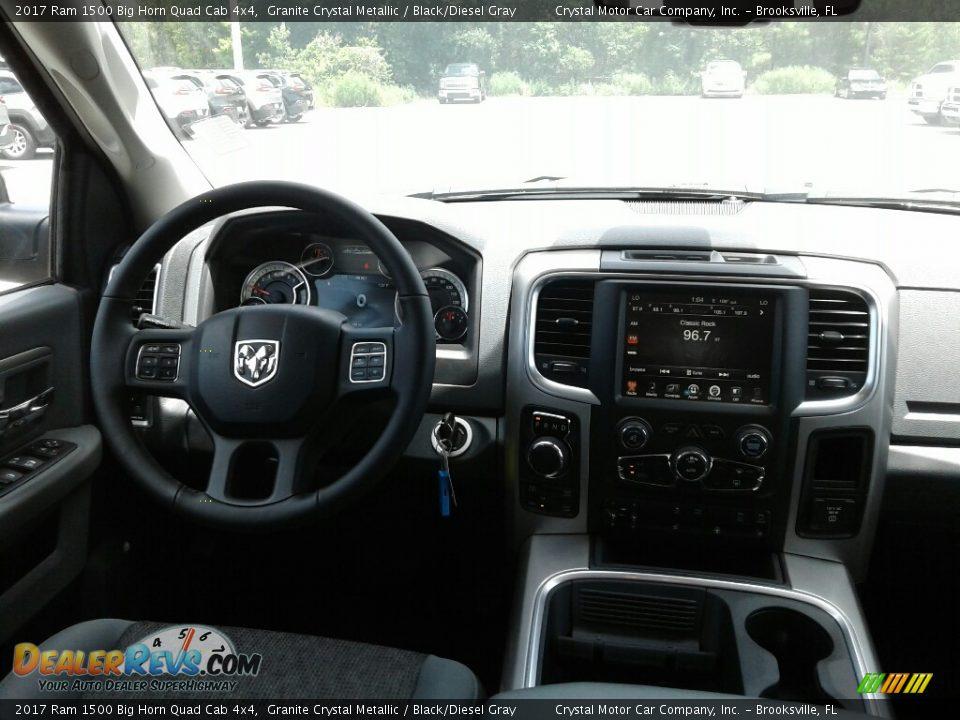 2017 Ram 1500 Big Horn Quad Cab 4x4 Granite Crystal Metallic / Black/Diesel Gray Photo #13