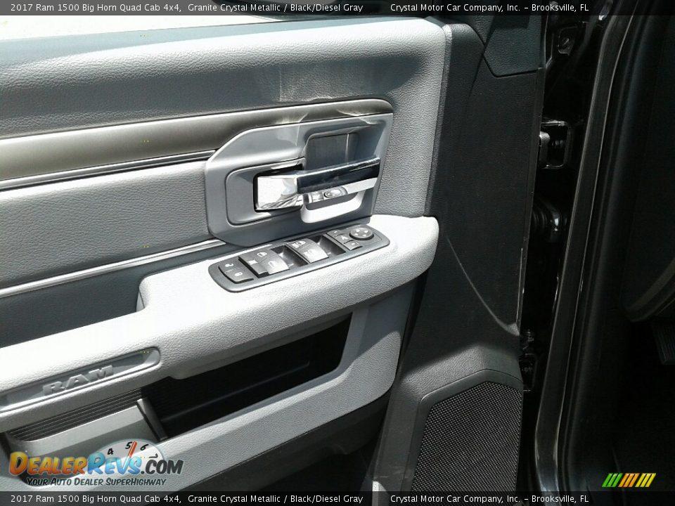 2017 Ram 1500 Big Horn Quad Cab 4x4 Granite Crystal Metallic / Black/Diesel Gray Photo #17