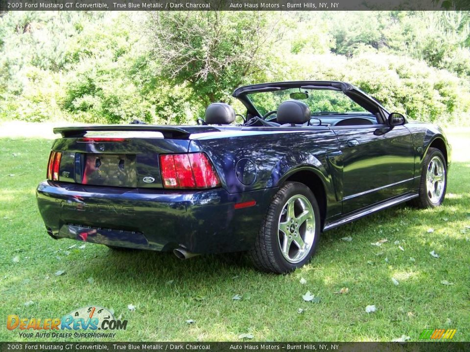 2003 ford mustang gt convertible true blue metallic dark. Black Bedroom Furniture Sets. Home Design Ideas