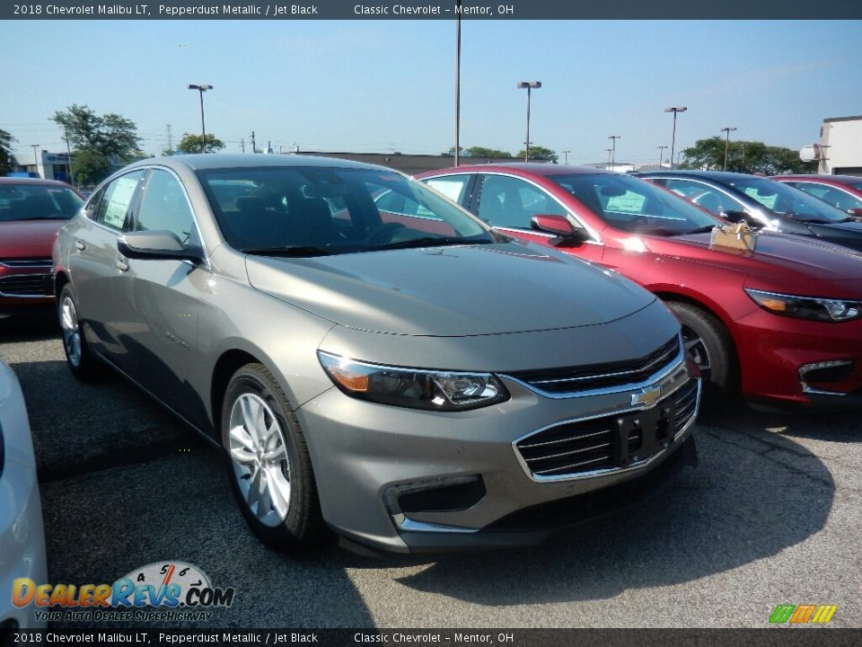 2018 Chevrolet Malibu LT Pepperdust Metallic / Jet Black Photo #3