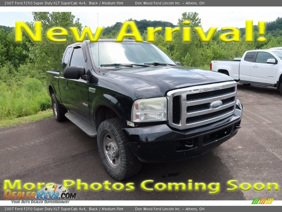 2007 Ford F250 Super Duty XLT SuperCab 4x4 Black / Medium Flint Photo #1