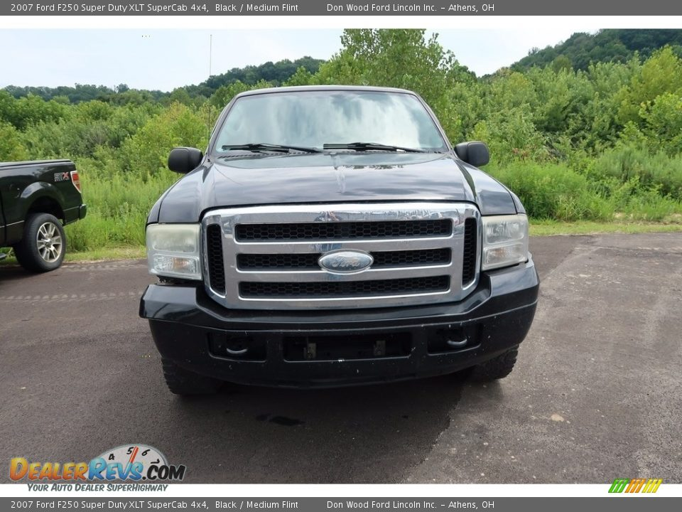 2007 Ford F250 Super Duty XLT SuperCab 4x4 Black / Medium Flint Photo #2