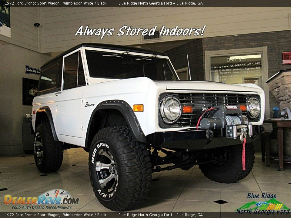 1972 Ford Bronco Sport Wagon White / Black Photo #2