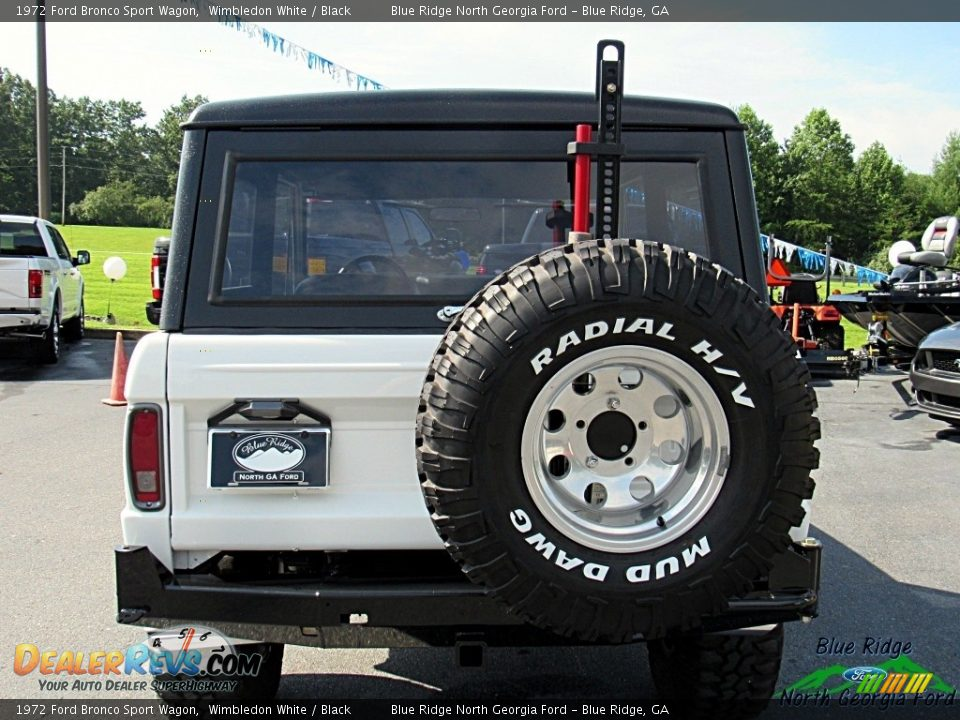 1972 Ford Bronco Sport Wagon White / Black Photo #5