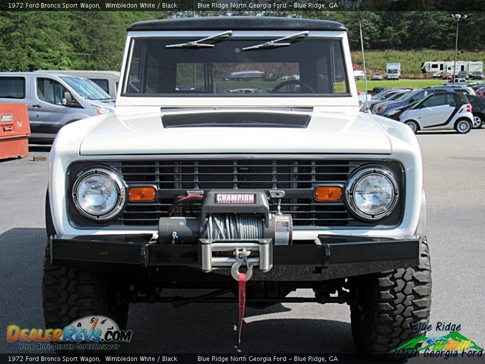 1972 Ford Bronco Sport Wagon White / Black Photo #9