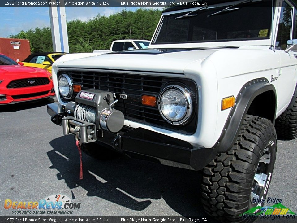 1972 Ford Bronco Sport Wagon White / Black Photo #29
