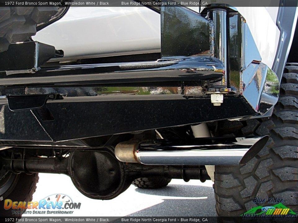 1972 Ford Bronco Sport Wagon White / Black Photo #34