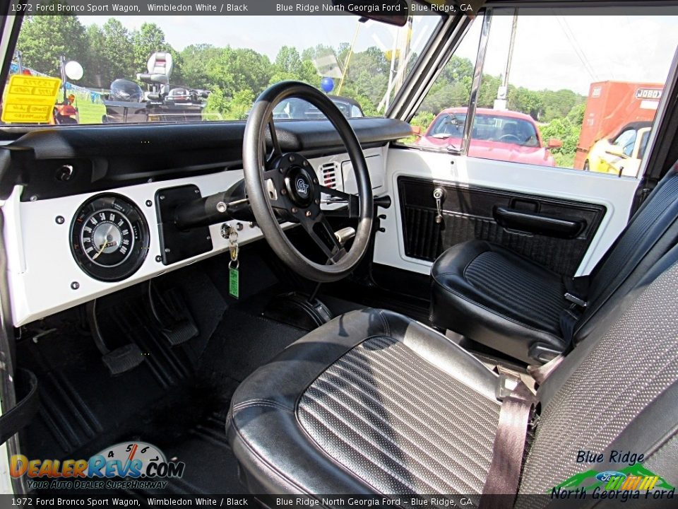 1972 Ford Bronco Sport Wagon White / Black Photo #35