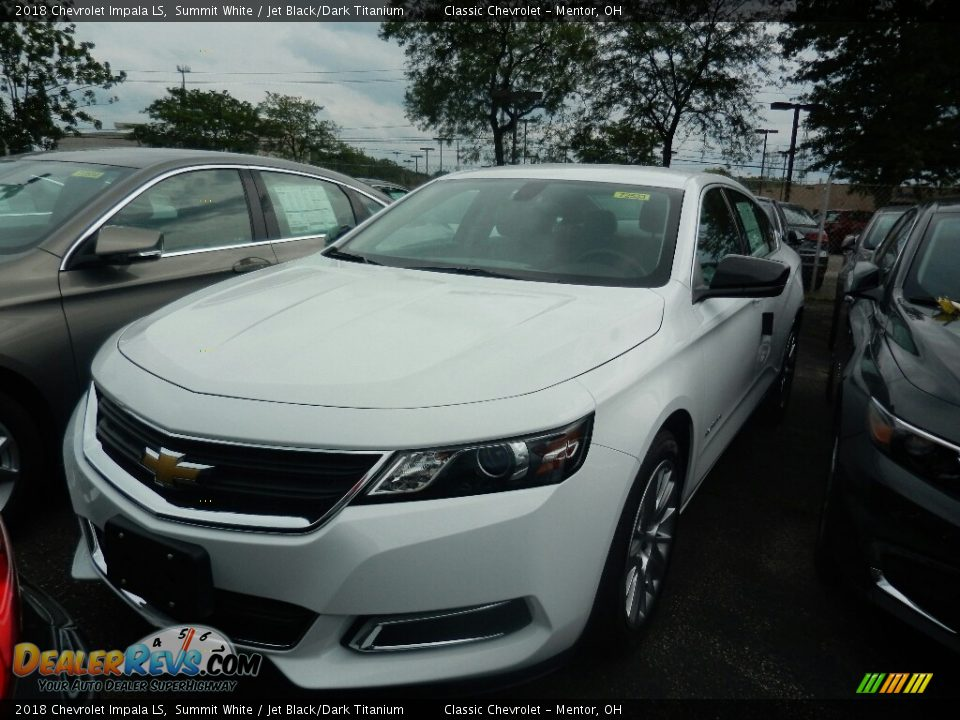 2018 Chevrolet Impala LS Summit White / Jet Black/Dark Titanium Photo #1