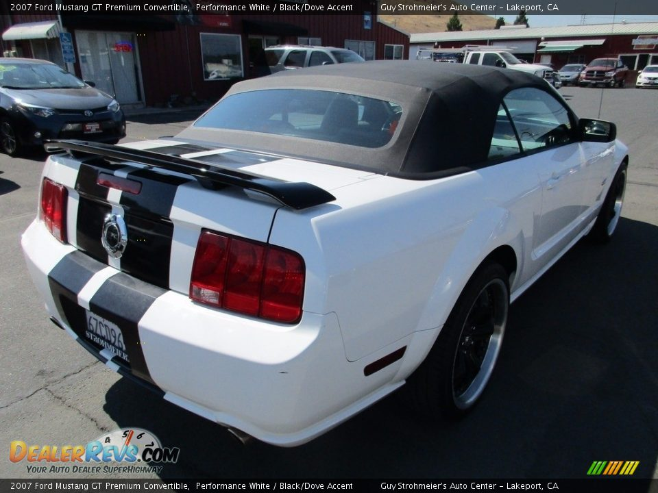 2007 Ford Mustang GT Premium Convertible Performance White / Black/Dove Accent Photo #7
