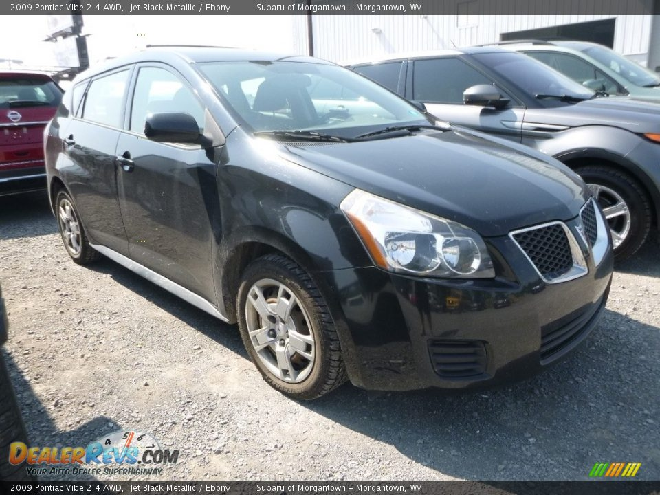 2009 Pontiac Vibe 2.4 AWD Jet Black Metallic / Ebony Photo #1