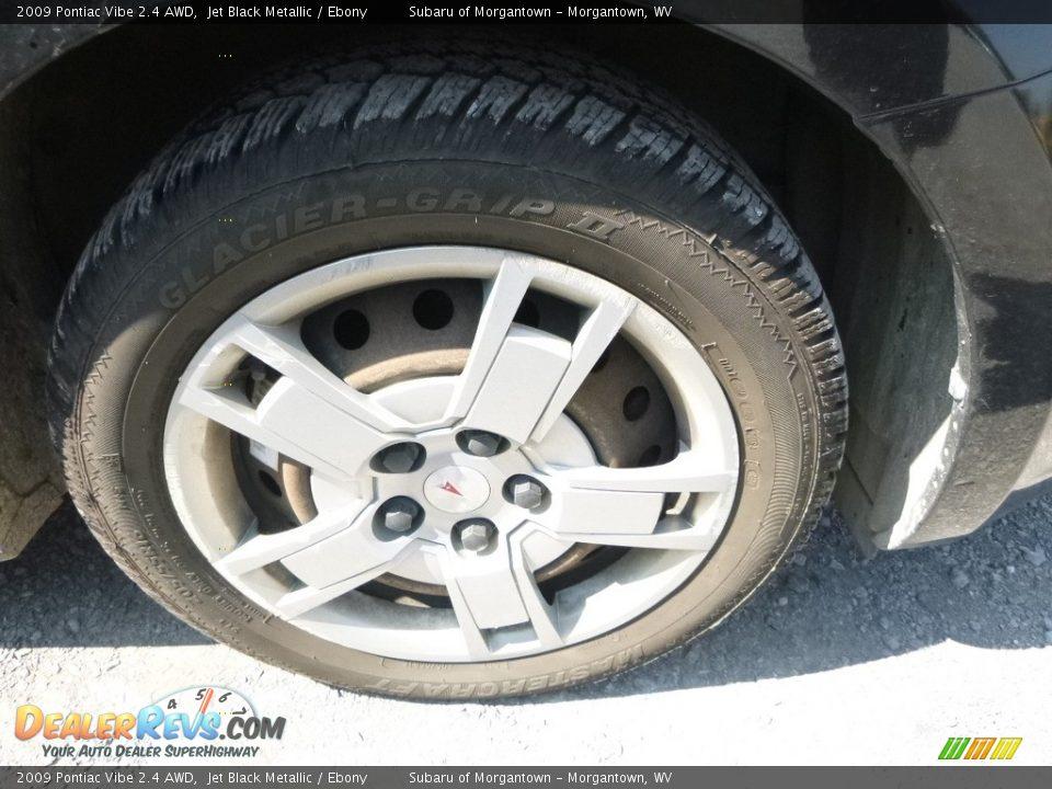 2009 Pontiac Vibe 2.4 AWD Jet Black Metallic / Ebony Photo #2