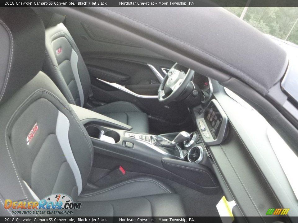 2018 Chevrolet Camaro SS Convertible Black / Jet Black Photo #10