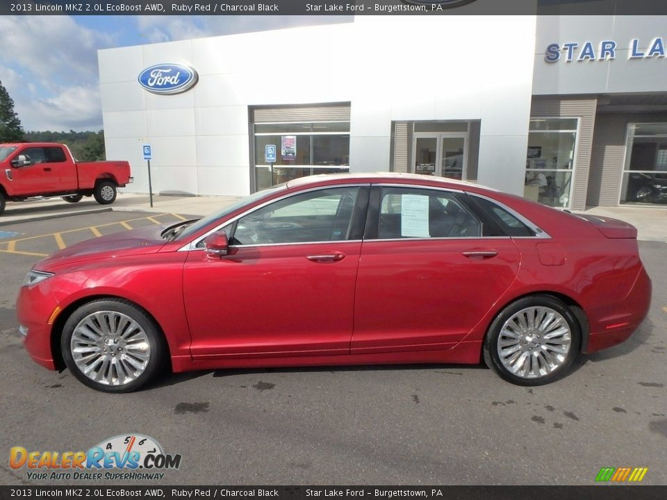 2013 Lincoln MKZ 2.0L EcoBoost AWD Ruby Red / Charcoal Black Photo #8