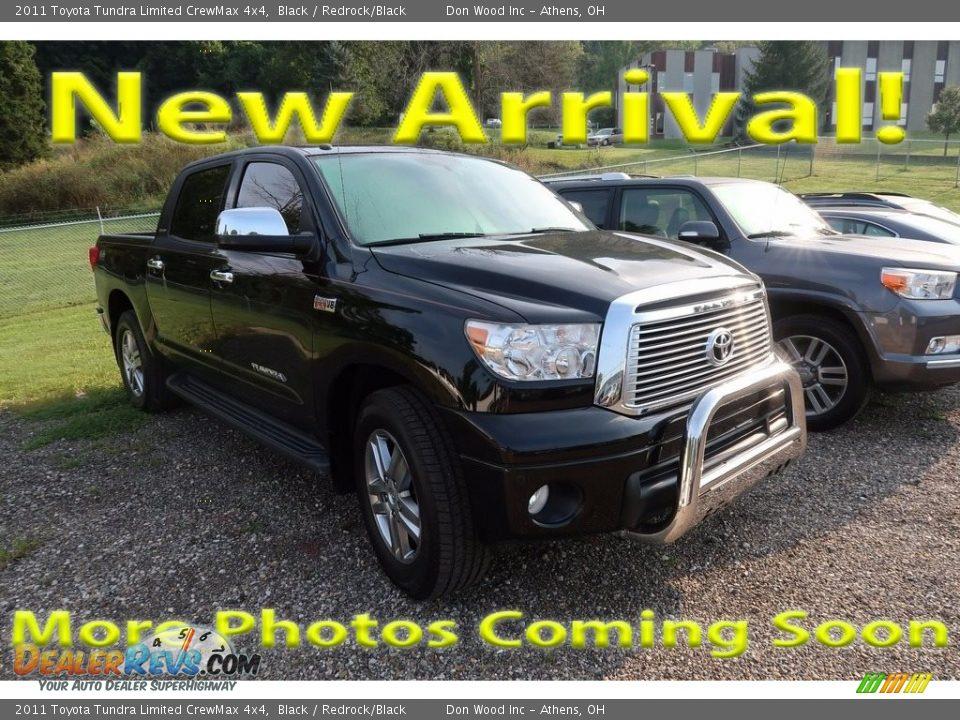 2011 Toyota Tundra Limited CrewMax 4x4 Black / Redrock/Black Photo #1