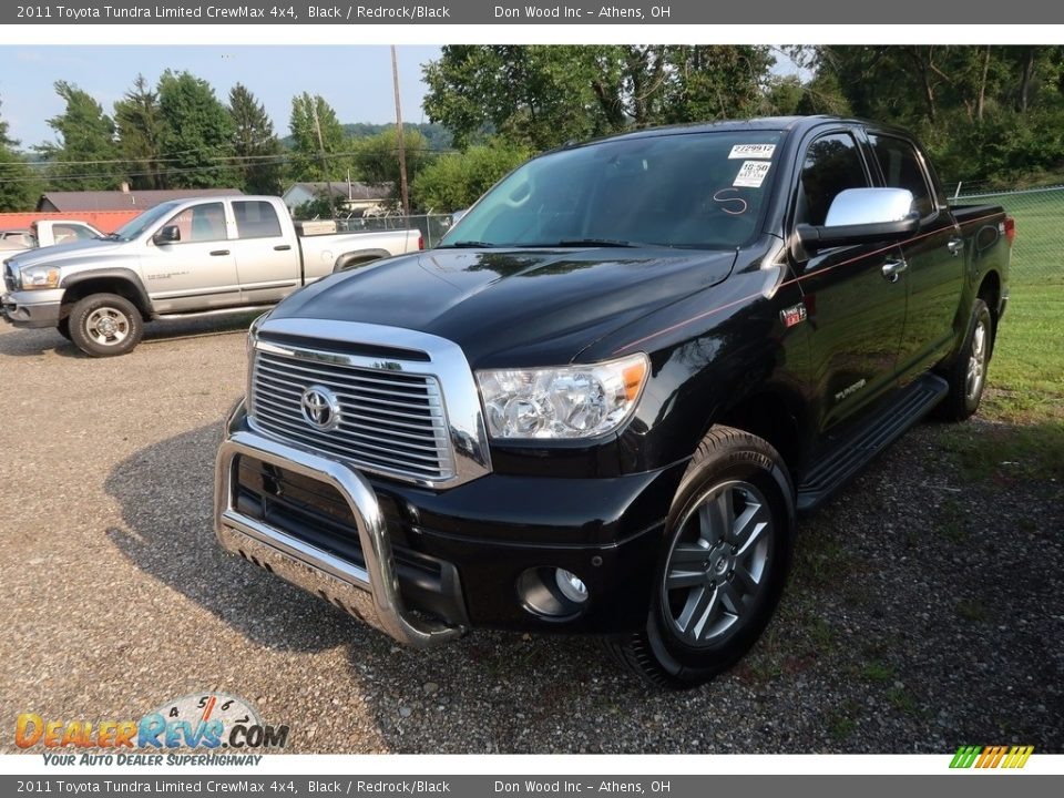 2011 Toyota Tundra Limited CrewMax 4x4 Black / Redrock/Black Photo #3
