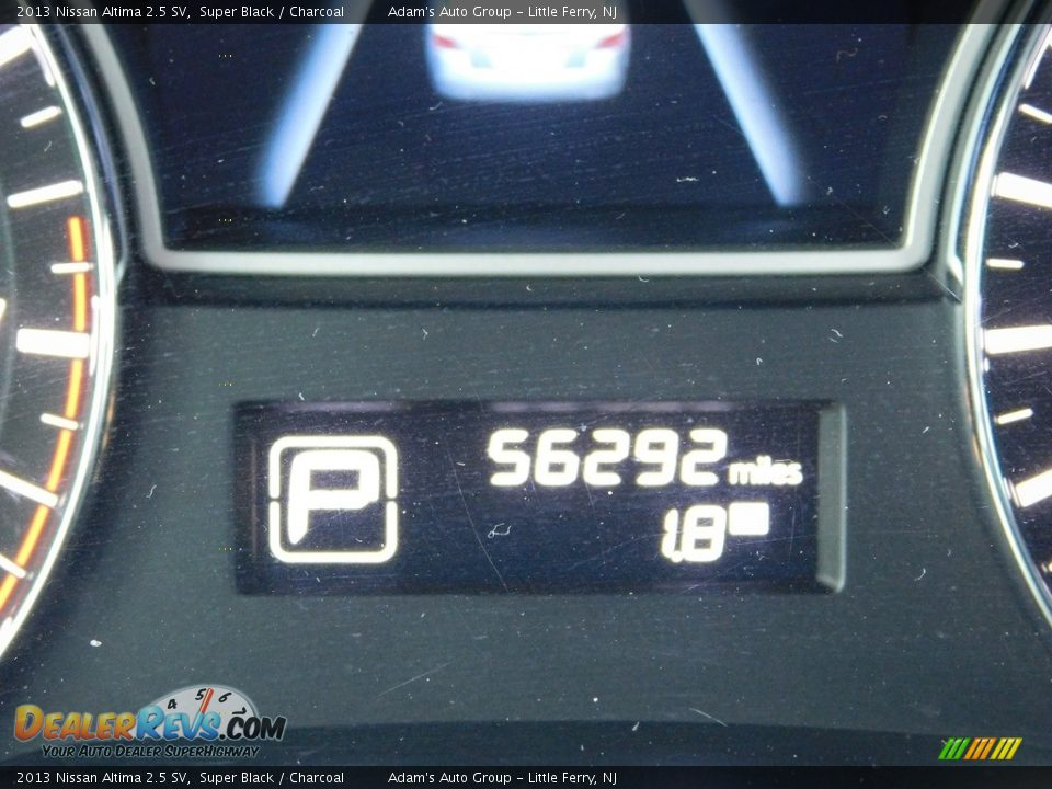 2013 Nissan Altima 2.5 SV Super Black / Charcoal Photo #21