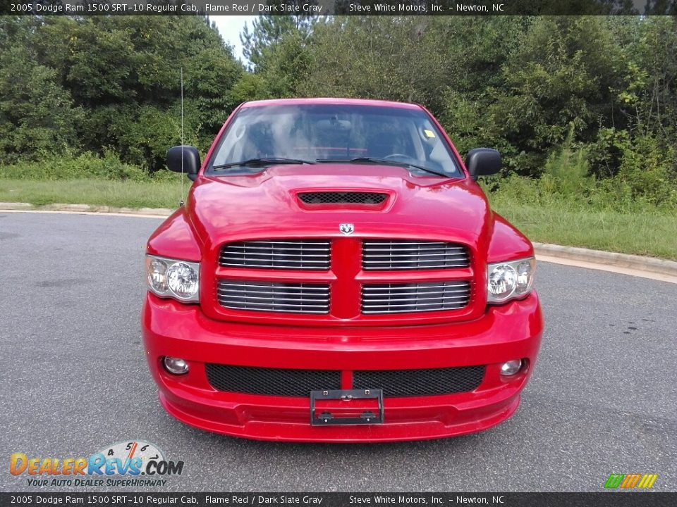 2005 Dodge Ram 1500 SRT-10 Regular Cab Flame Red / Dark Slate Gray Photo #3
